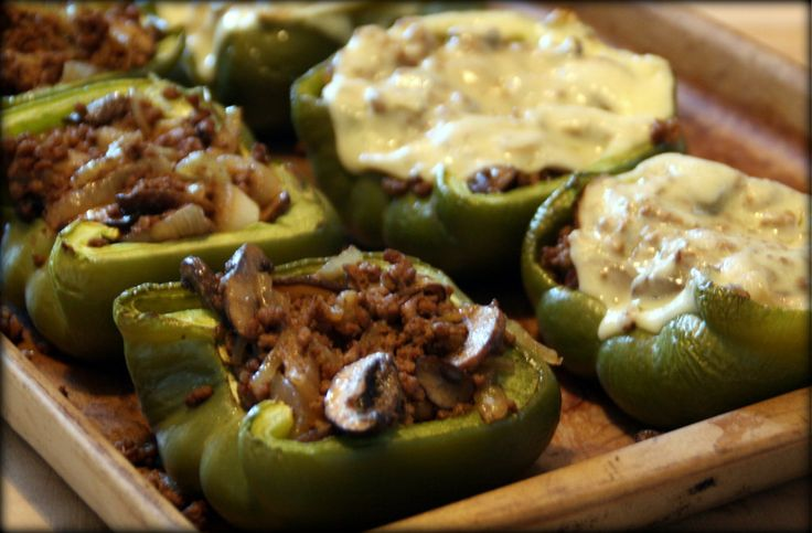 Philly Stuffed Peppers from Primal Cravings by Megan and Brandon Keatley, health-bent.com, paleo, football