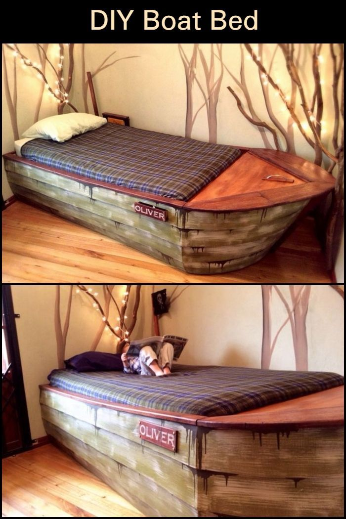Who Said That Beds Had To Be Boring This Diy Boat Bed Is