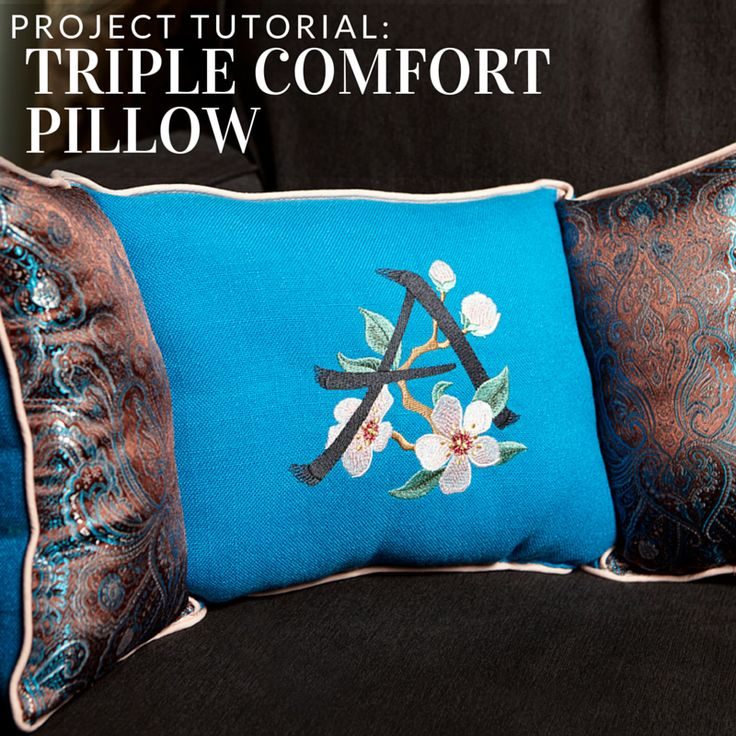 Get three times the comfort with this pillow tutorial from