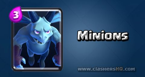 Find out all about the Clash Royale Minions Card. How to get Minions & attack/counter Minions effectively.