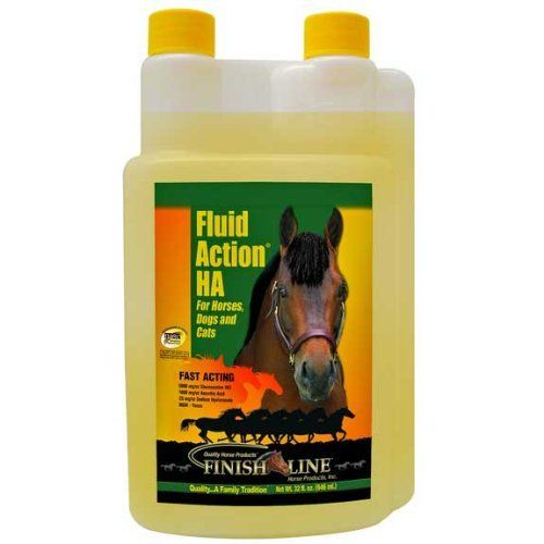Finish Line Horse Products,inc Fluid Action Ha Joint Therapy 32 Ounces - 52032 by Finish Line. $30.95. Fluid Action® HA provides the same great benefits as original Fluid Action® except with added Sodium Hyaluronate (HA) for extra support in preserving healthy joints. Sodium Hyaluronate, or Hyaluronic Acid supports healthy joint function by lubricating joints and helping to maintain structural integrity. It also increases the viscosity level of the synovial fluid in...