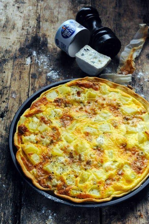 tarte aux Bresse Bleu et aux pommes de terre
