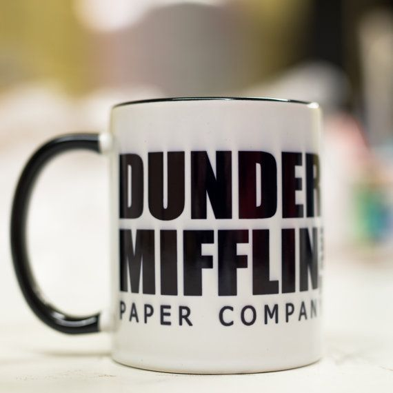 Dunder Mifflin Mug  Paper company Gift Idea Office by handmadelt