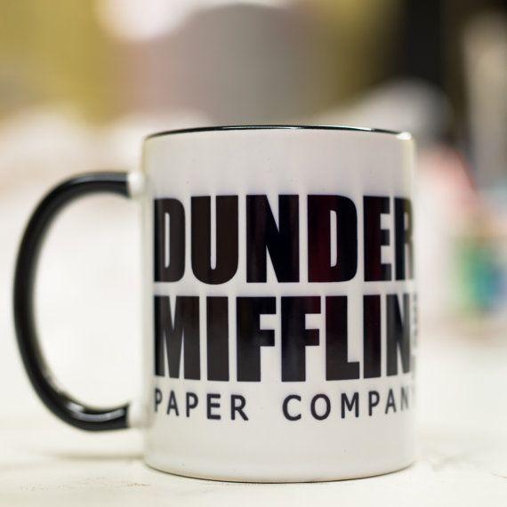 Dunder Mifflin Mug - Paper company Gift Idea Office Dad Son gift cup 11oz Mug/Cup coffee/tea 100% ceramic mug 100% Handmade High quallity print Save
