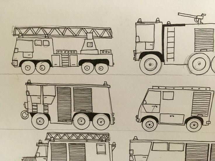 Every Fireman Sam will love it! #machines #tinymachinery #drawings #fireman