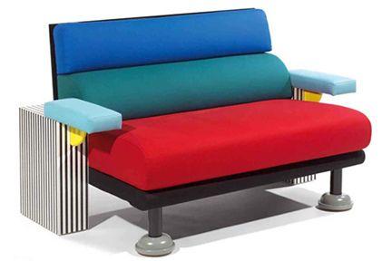 Lido sofa 1982, Memphis Design Group