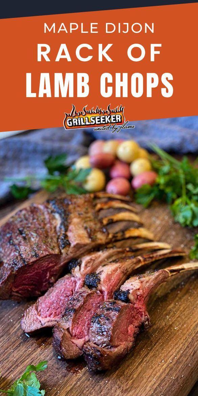 Maple Dijon Rack Of Lamb Chops Grillseeker Recipe Grilled Dinner Recipes Grilled Dinner Bbq Recipes
