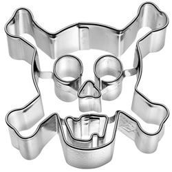 Day of the Dead Cookie Cutters - Cookie Cutter Skull & Cross Bones Stainless Steel