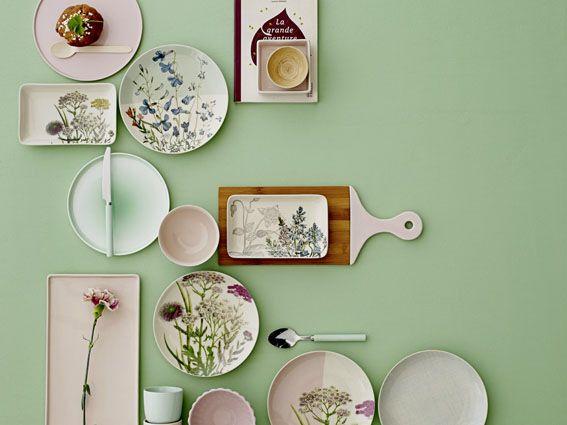 Botanical tableware by Bloomingville