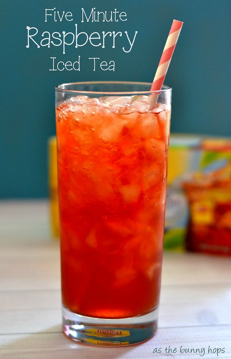Make delicious raspberry iced tea in only five minutes!
