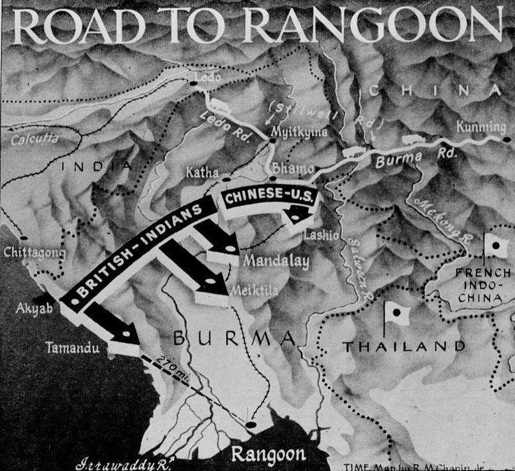 Russia Map After Ww2%0A World War II map of ChinaBurmaIndia front