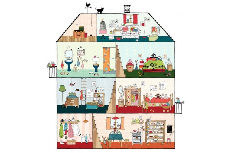 Line Art Dollhouse : Best images about dollhouse illustrations on pinterest
