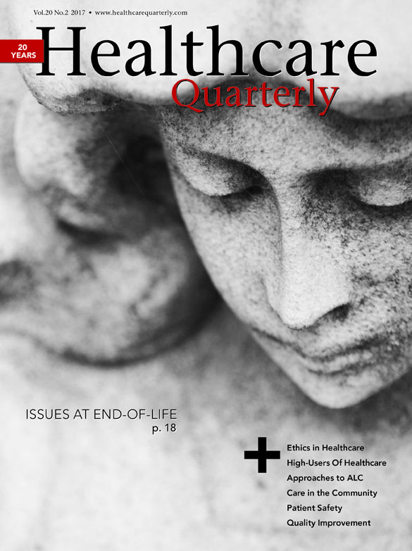 Healthcare Quarterly 20.2 July 2017. Issues at End-of-Life