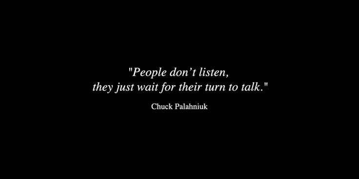 by Chuck Palahniuk// Some do and care :)//