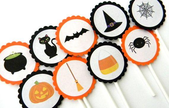 Halloween cupcake toppers #halloween
