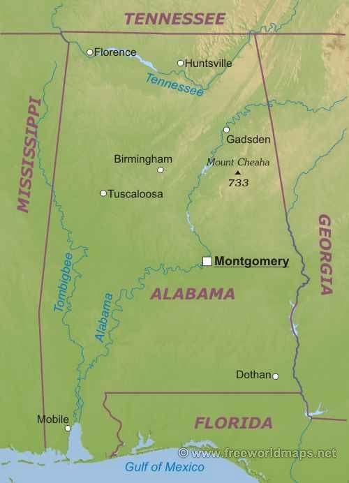 Алабама штат : Алабама штат Алабама (англ. Alabama) — штат расположенный в юго-восточном регионе США. Граничит со штатом Теннесси на севере, штатом Джорджия на востоке, штатом Флорида и Мексиканским заливом на юге и со штатом Миссисиппи на западе.