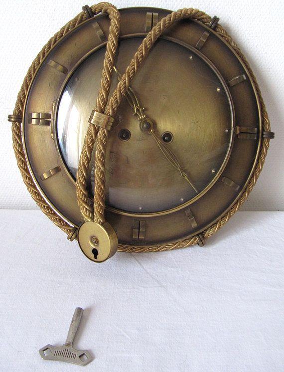 Vintage 1940 S Wall Clock Aug Schatz Und Sohne On Etsy