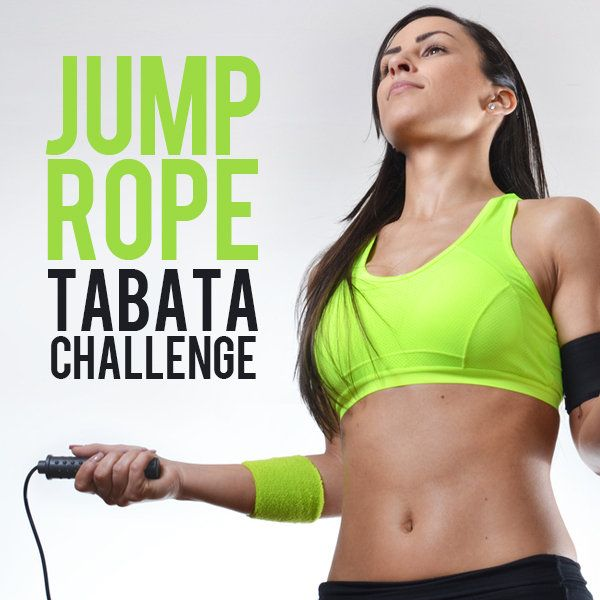 These are not only jump roping exercises, but a Tabata challenge, combining one of the best cardiovascular exercises with one of the greatest fitness models out there.