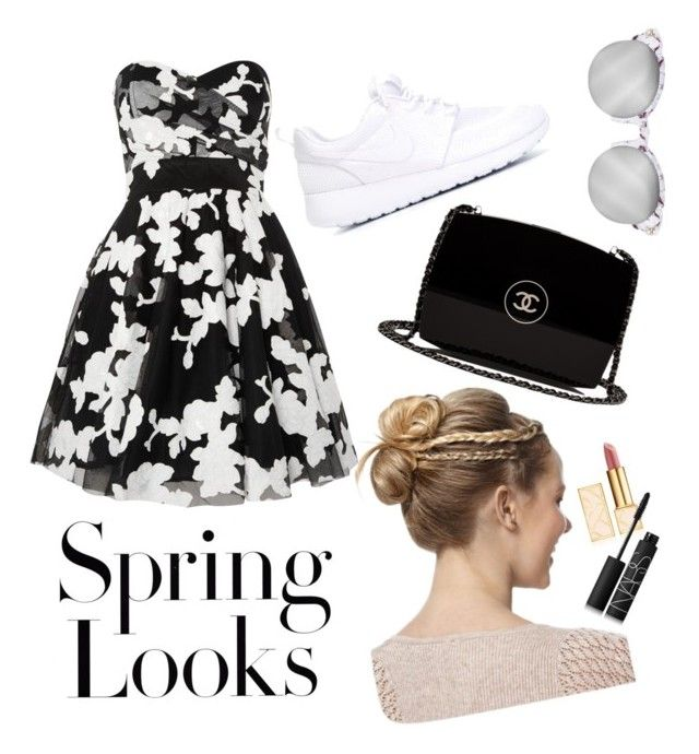 """Spring Looks"" by aninditaarr on Polyvore featuring NIKE, TFNC, Tory Burch, Chanel, H&M and NARS Cosmetics"