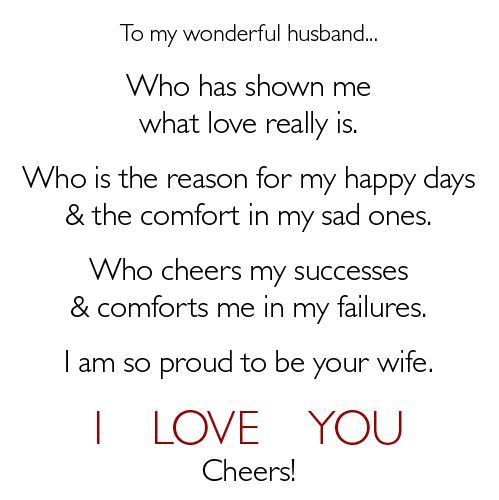 Short I Love You Quotes For Your Husband : your wife! Quotes and sayings Pinterest Cheer, I love and Love ...