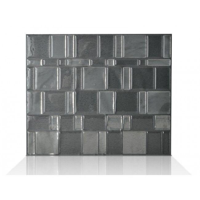 tango onyx smart tiles dark grey metallic medium grey metallic backsplash wishlist. Black Bedroom Furniture Sets. Home Design Ideas