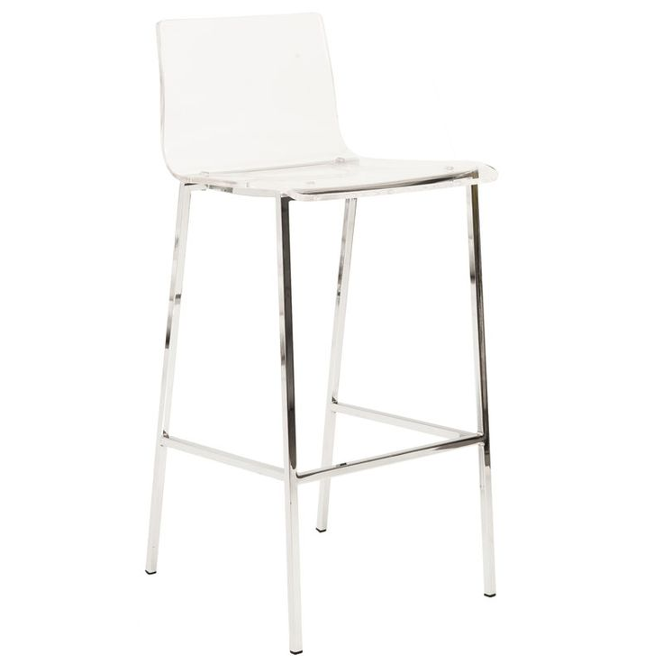 Chandler Acrylic Bar Stool | Clear Acrylic And Chrome Furniture | Modern  Kitchen | On Trend