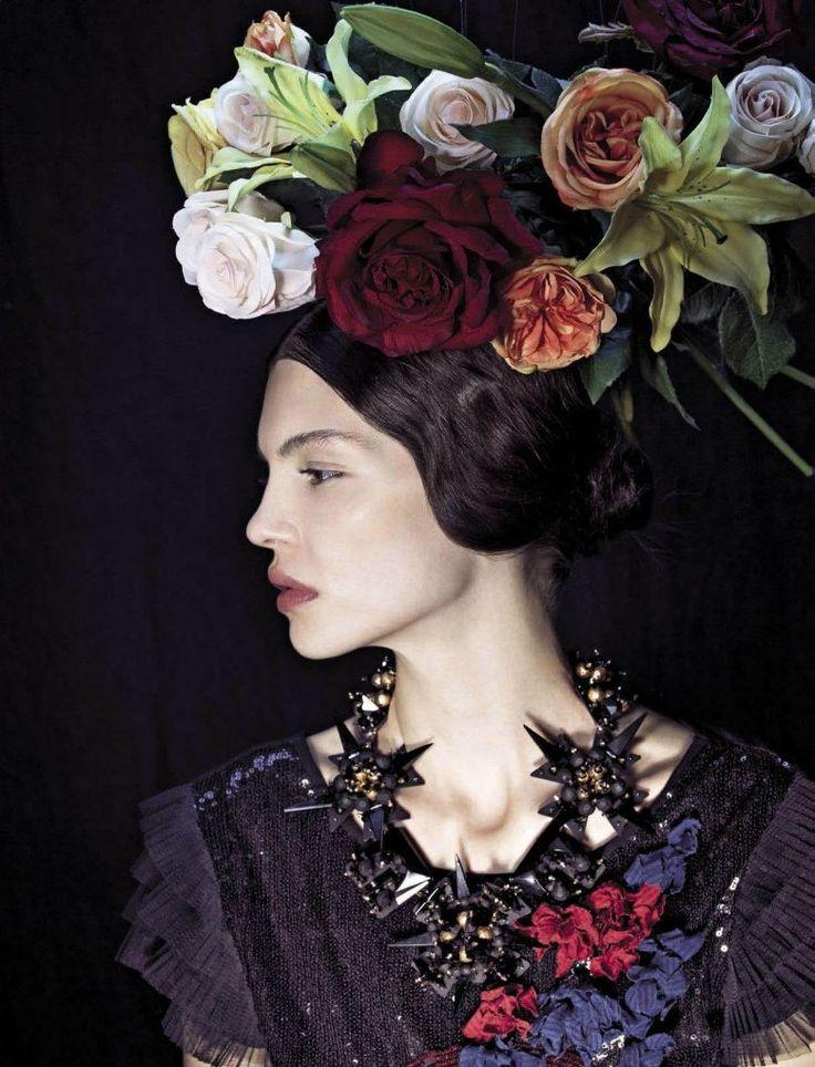 Inspired by Frida Kahlo, Vogue Italia