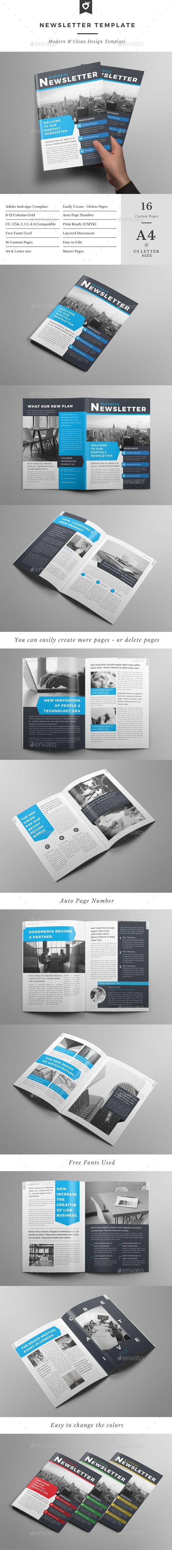Newsletter Template #design Download…