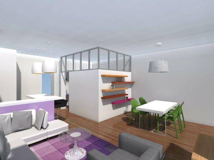 chambre pi ce aveugle dans salon inspirations chambre pinterest salons. Black Bedroom Furniture Sets. Home Design Ideas