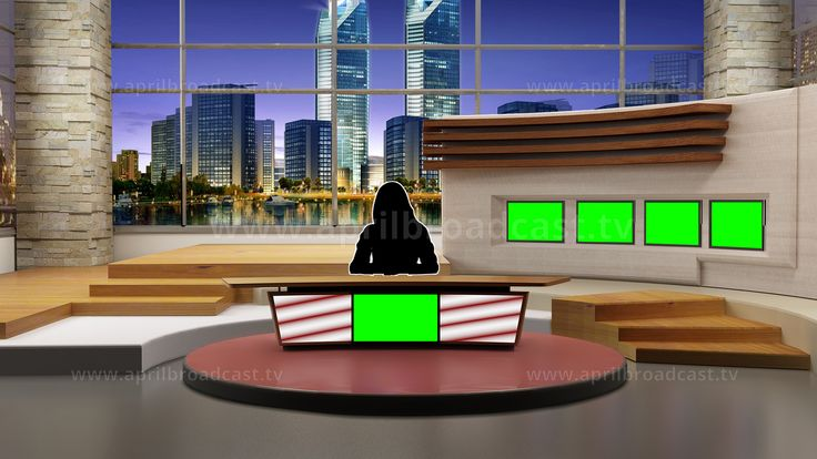 2D/3D green screen background best suited for a variety News-based show