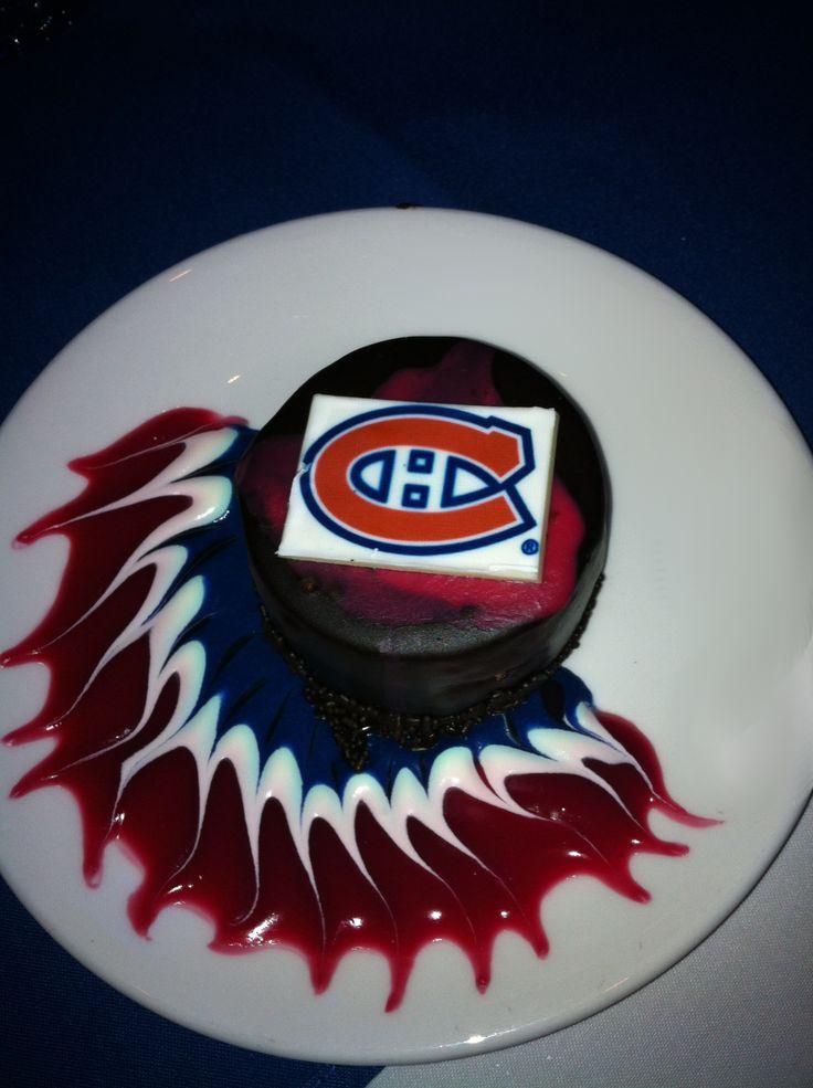 Hockey Theme Dessert |  Dark Chocolate Mousse | Go Habs | Team Colours.