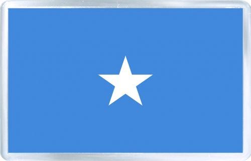 $3.29 - Acrylic Fridge Magnet: Somalia. Flag of Somalia