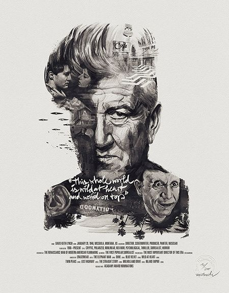 Área Visual - Blog de Arte y Diseño: Movie Director Portraits. Posters de Stellavie y Julian Rentzsch
