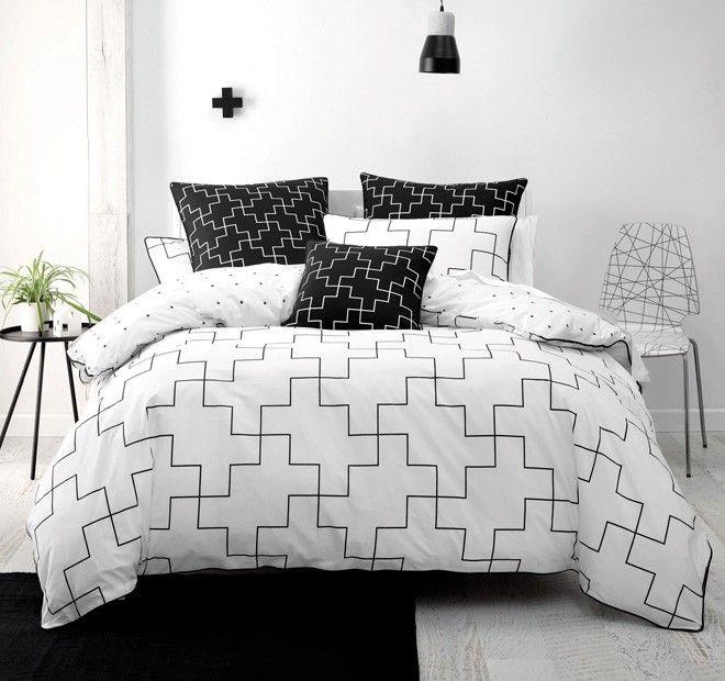 Vex Quilt Cover Set Range White