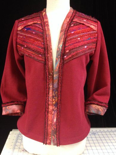 Adorned-Chili Red Jacket