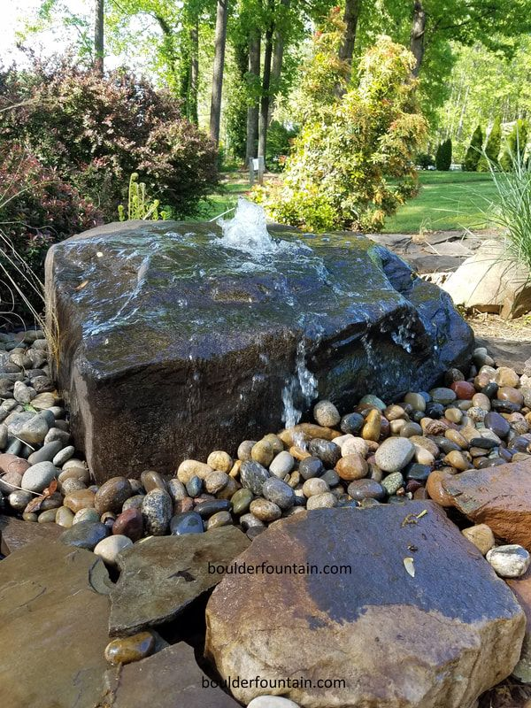 Buy Bubbling Rock Fountains From Boulder Fountain Ship All Over Usa Bubbler Rocks In 2020 Rock Fountain Garden Water Fountains Fountains Backyard