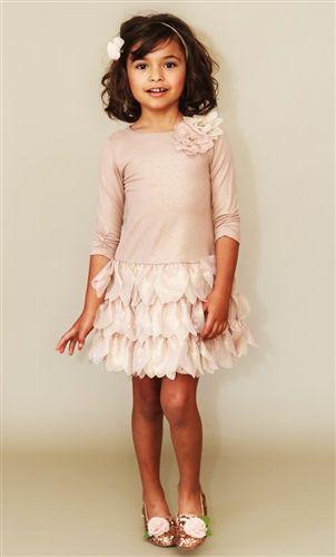 Biscotti - Shimmering Rose - Gold Drop Waist Dress Fall 2013