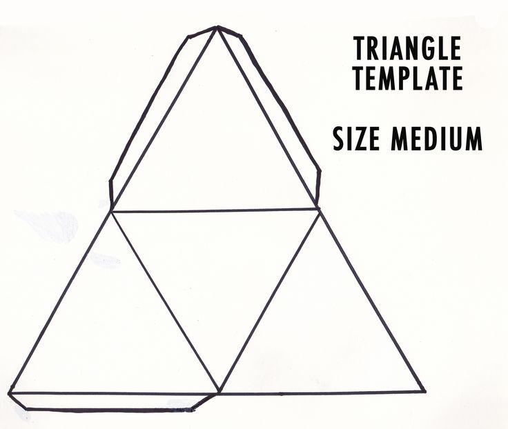 medium triangle template