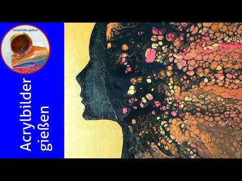 Acrylic Pouring German: Cool Pouring Hairstyle Step by Step Cool A Cool Poured Hairstyle – YouTube