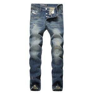 Jeans Men Slim Denim Button Jeans Trousers Full Size 29-40 Designer Logo Dsel Brand Jeans Ripped Men`s Jeans D9003