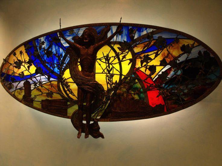 Artistic Crucifix Chapel Milan Malpensa