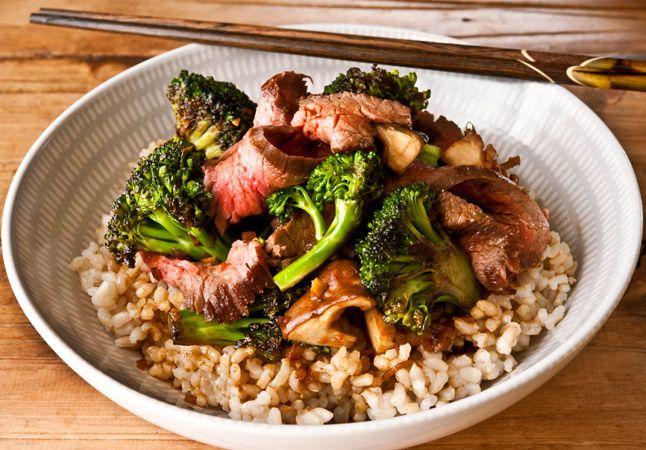 Orange Broccoli, Beef, and Mushrooms | Recipe | Flank ...