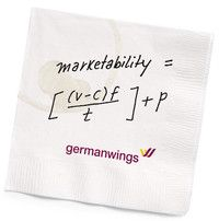 Typical fees, suddenly fancy. Germanwings new #marketing approach to low-cost flights, including a marketability formula #lowcostflights