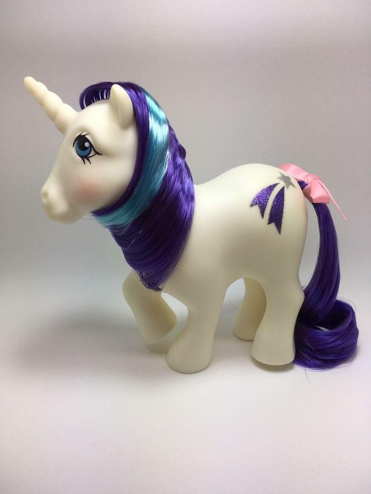 Vintage MLP G-1 Hasbro My Little Pony ~ GLORY ~ Unicorn YR 2 ~ BEAUTIFUL SYMBOLS
