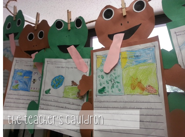 The Teachers Cauldron: More Frog and Toad and a spelling freebie ~Pinned by www.FernSmithsClassroomIdeas.com