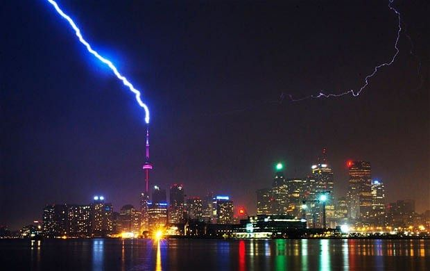 Best weather pictures of the year: lightning, auroras, snow and ice.