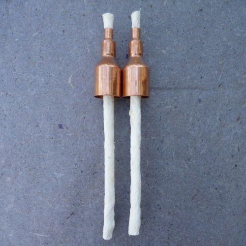 Tiki-Torch-Fibreglass-Wicks-x-2-Copper-Wick-Holders-Citronella-candles-Bottle