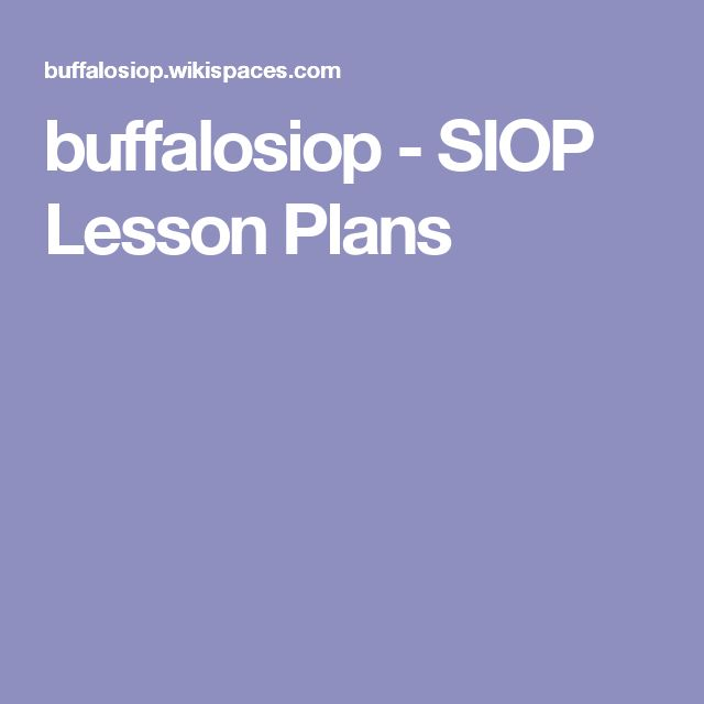 7 best Lesson Plans images on Pinterest Lesson planning, Lesson - sample siop lesson plan template