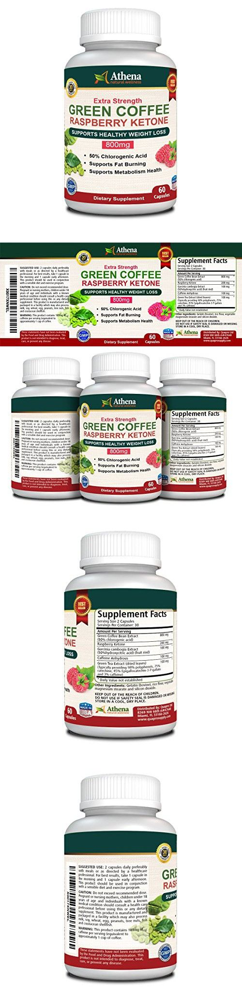 Athena - Green Coffee Bean Extract - 60 Capsules - Made in the USA