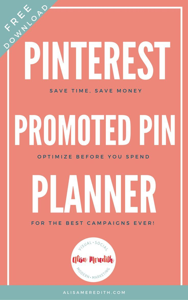 Pinterest Promoted Pin Planner - Print and plan your Pinterest advertising from start to finish. Updated for 2018. #pinterestads #promotedpins #pintereststrategy